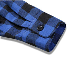 Classic Flannel Shirt Blue Sleeve