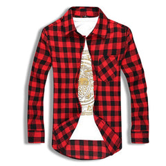 Classic Flannel Shirt Red Front