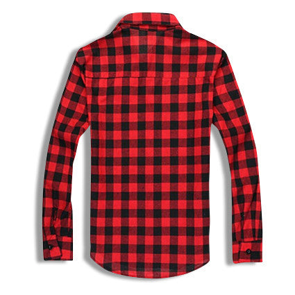 Classic Flannel Shirt Red Rear