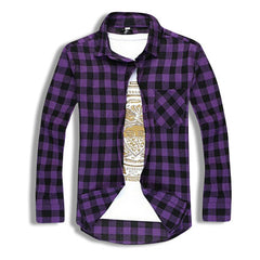 Classic Flannel Shirt Purple
