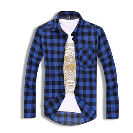 Classic Flannel Shirt Blue