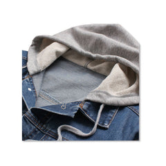 Denim Jacket Hoody Hood