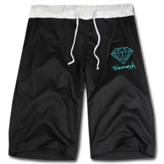 Diamond Brand Cotton Jogger Shorts Black