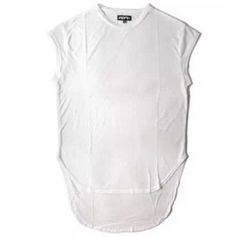 Extended Sleeveless T-Shirt White