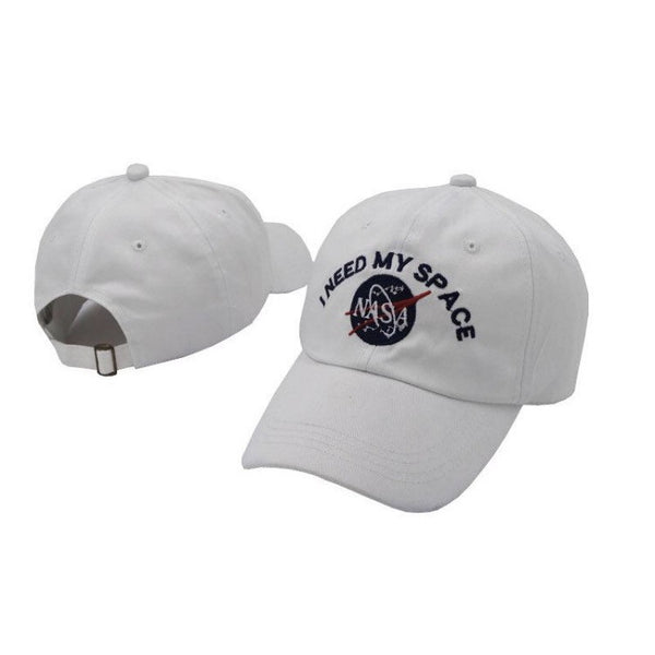 NASA I Need My Space Dad Hat White