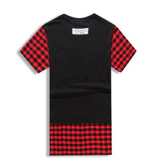 GODS & GENERALS Plaid Extended T-Shirt Back