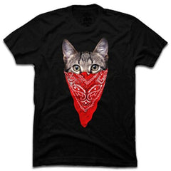 Gangster Cat T-Shirt Black