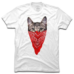 Gangster Cat T-Shirt White