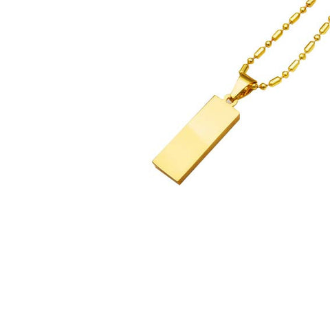 Gold Bar Necklace Rear