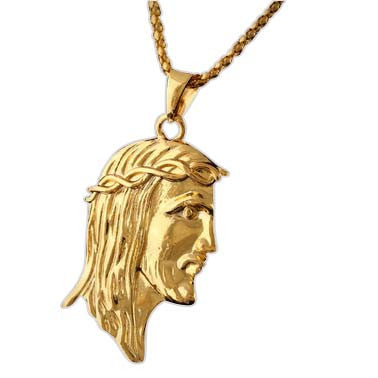 Gold Jesus Piece Chain and Pendant