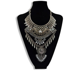 Vintage Statement Necklace Silver