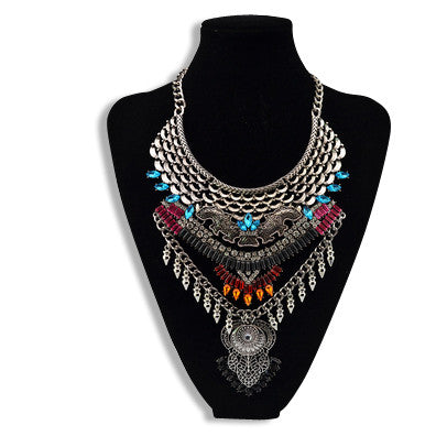 Vintage Statement Necklace Colorful