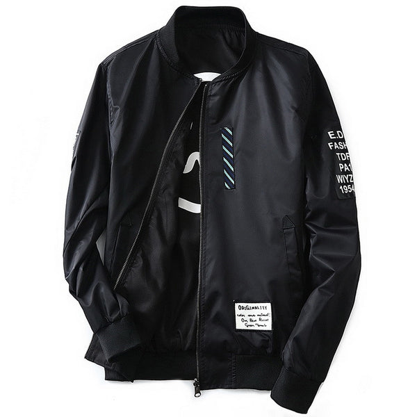 STFU Reversible Bomber Jacket Black