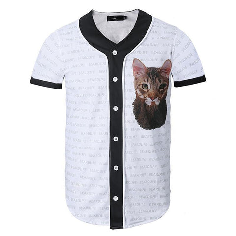 Bearded Cat Baseball Jersey