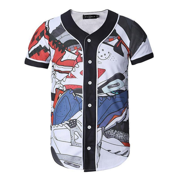 Jordan Kick Collage Baseball Jersey