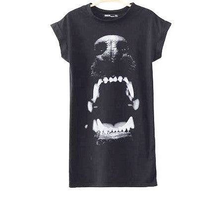 Vicious Black T-shirt Dress Front