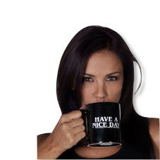 Have A Nice Day Middle Finger Ceramic Coffee Mug Demo