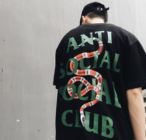 Anti Social Social Club Snakes Shirt Black