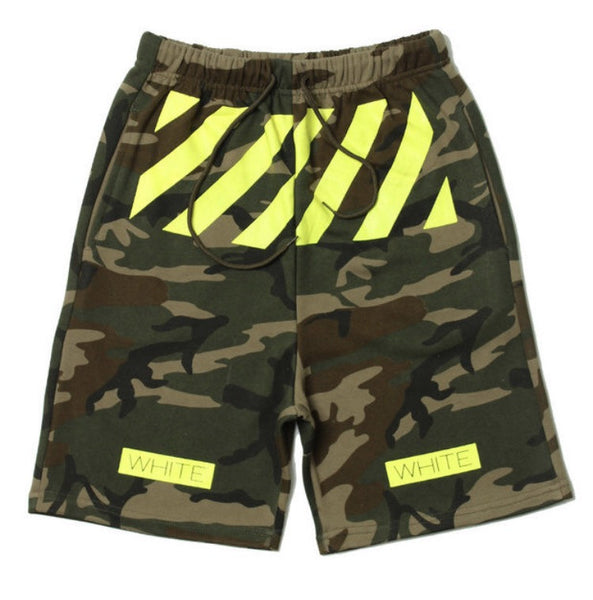 Off White Camo Neon Zone Shorts