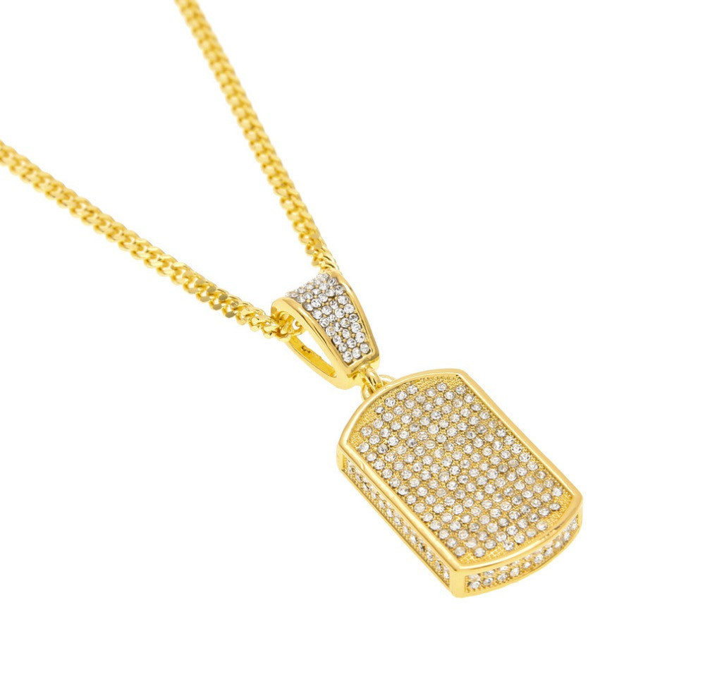 Icey pav gold dog tag necklace onyx hearts icey pav gold dog tag necklace aloadofball Choice Image