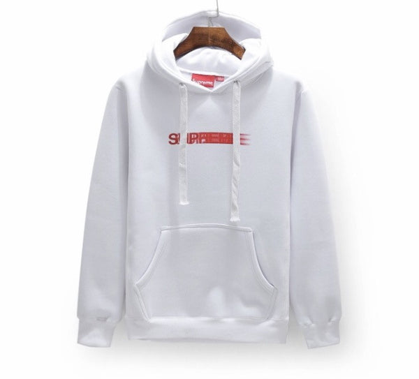 Supreme Faded Logo Hoodies White