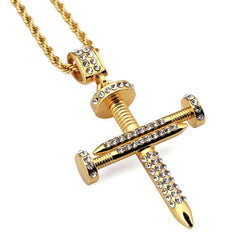 18K Nail In The Coffin Necklace