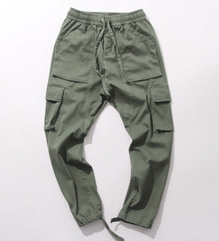 Onyx Hearts Kanye Style Joggers Army Green