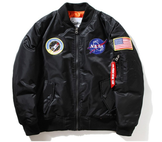 Space Walk Streetwear Bomber Black