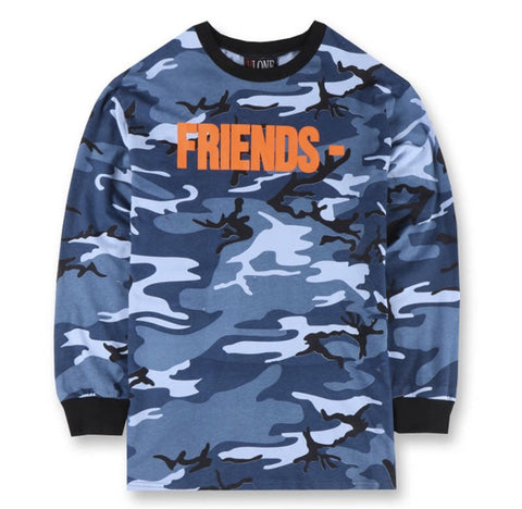 VLONE FRIENDS Blue Camo Sweatshirt