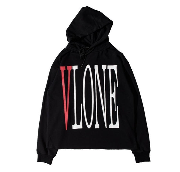 VLONE Classic Black Hoodie Front