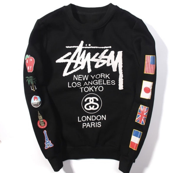 Stussy International Sweatshirts Black