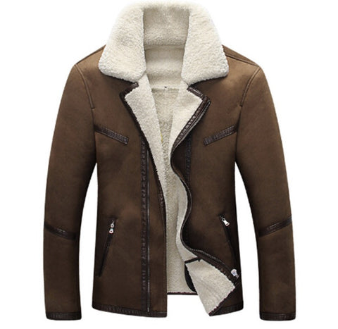 ANDIMOTO Fur and Suede Jacket Brown