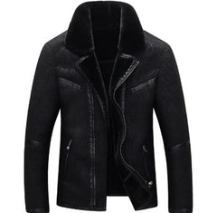 ANDIMOTO Fur and Suede Jacket Black