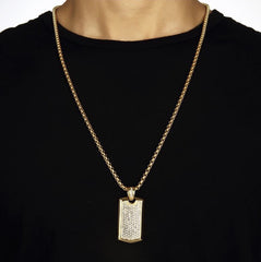 Kodiak Gold Plated Dog Tag Necklace