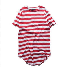 ANDIMOTO Extended Stripe Shirt Red