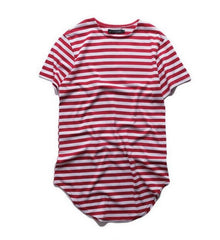 ANDIMOTO Extended Herring Stripe Shirt Red