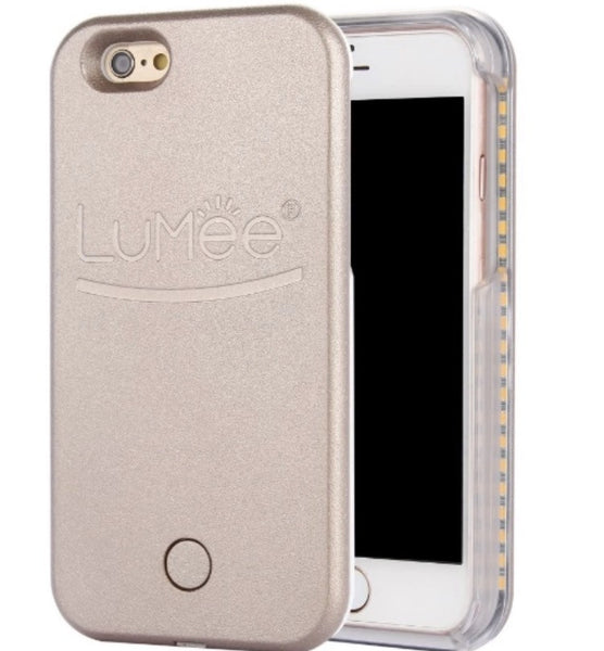 Lumee Light Up Selfie Cell Phone Case Gold
