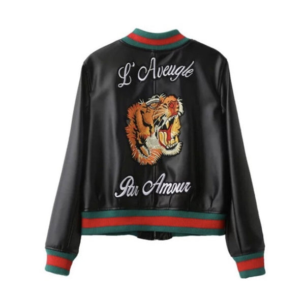 Tiger Love Bomber Jacket Back View