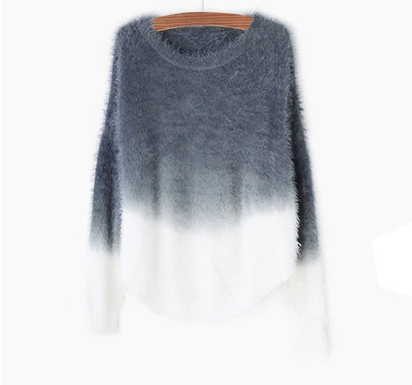 Ombré Autumn Sweater Grey