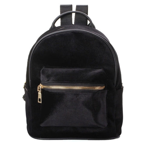 Velveteen Backpack Red