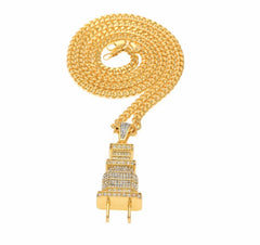 I Am The Plug 18K Gold Plated Blinged Necklace