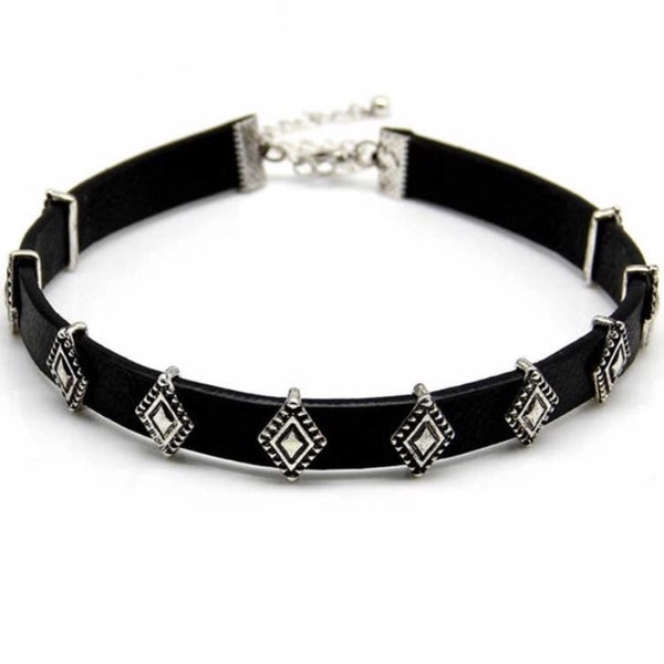 Geometric Diamond Shape Choker