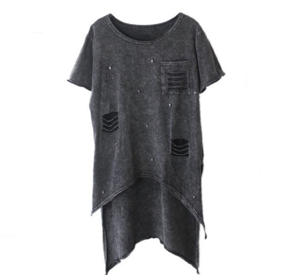 Distressed Hi Lo Tshirt