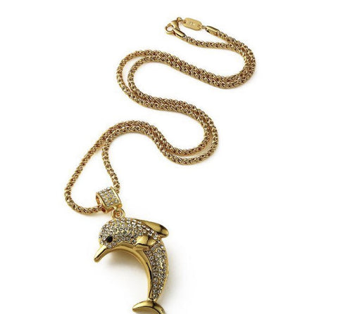 Dolphin Gold Plated Necklace