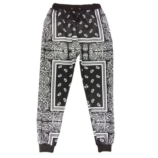 French Bandana Black Joggers