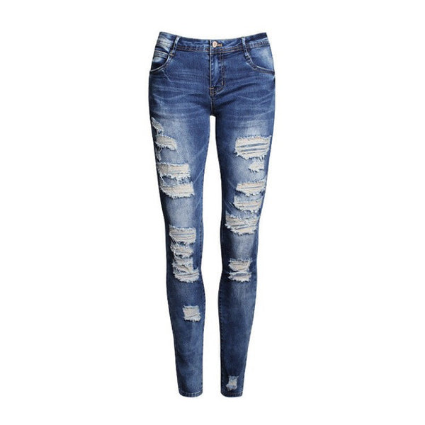 Mid Waisted Blue Skinny Jeans