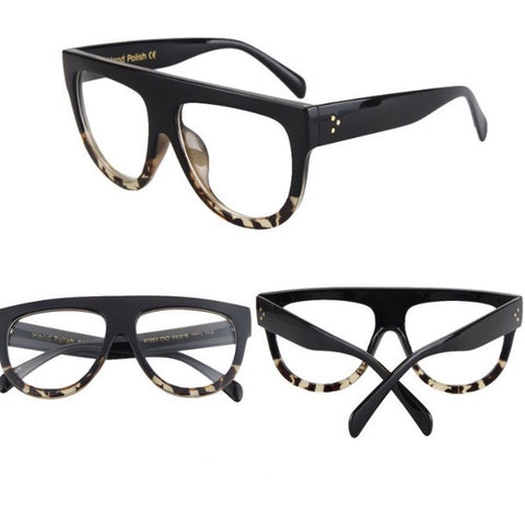 Exhibitionist Clear Lens Glasses Tortoise