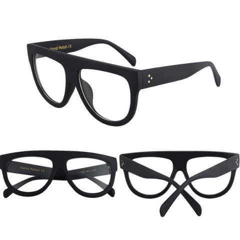 Exhibitionist Clear Lens Glasses Black