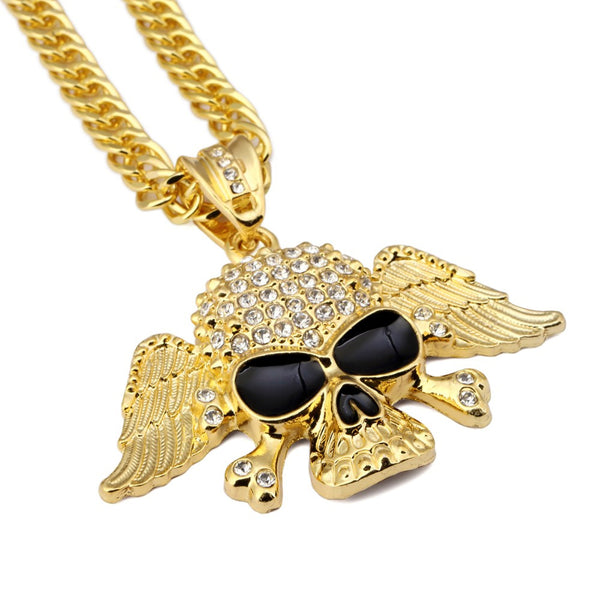 Skull Wings Necklace
