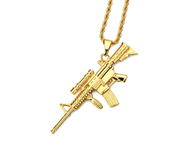 Scoped AK-47 Necklace